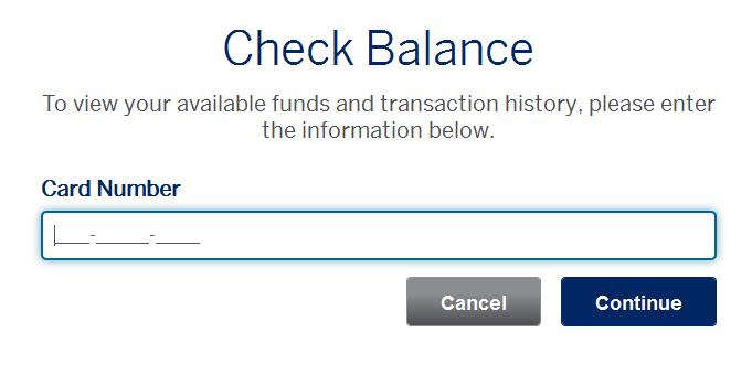Check American Express Gift Card Balance