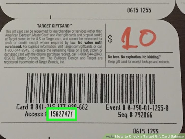 How To Check Target Gift Card Balance