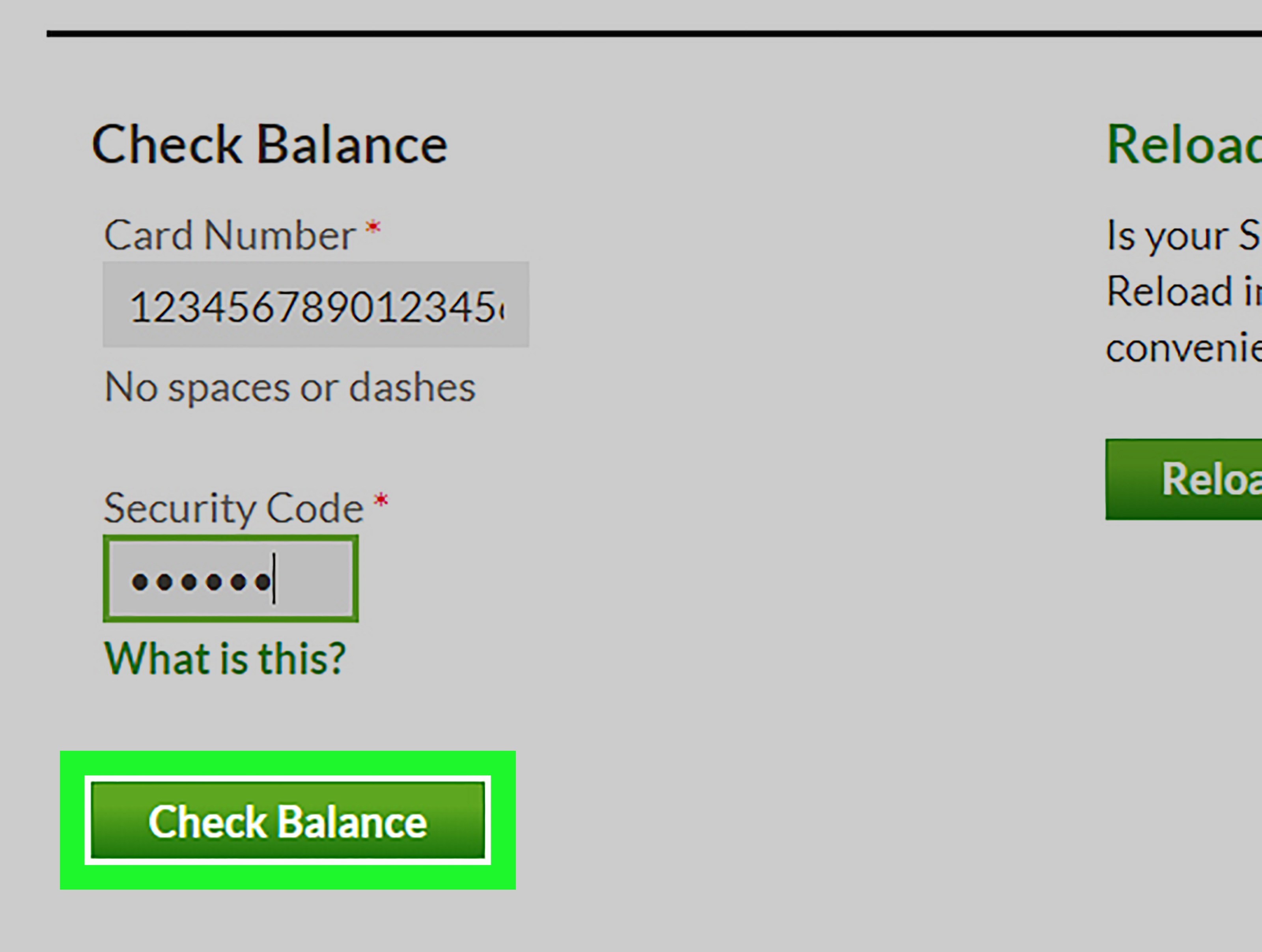 Starbucks Gift cards Balance Check